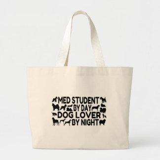 Med Student Dog Lover Large Tote Bag
