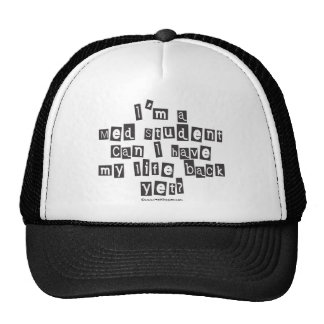 Med Student Ransom Note Hats