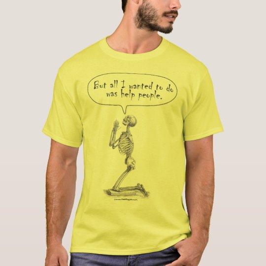 Med Student Skeleton Prayer T-Shirt
