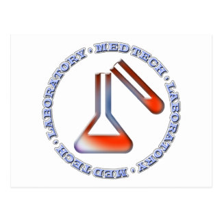 MED TECH - LABORATORY - FLASK  -TUBE - POSTCARD