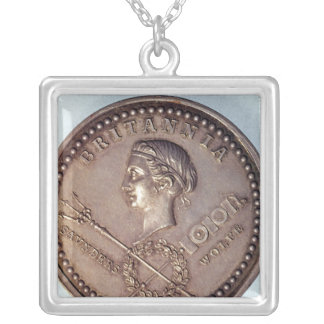 Medal commemorating the British capture of Silver Plated Necklace