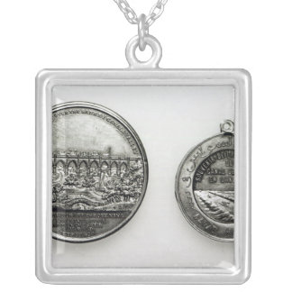 Medal Commemorating the opening of the Suez Silver Plated Necklace
