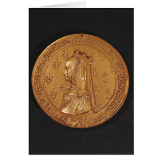 Medal depicting Anne of Brittany Card