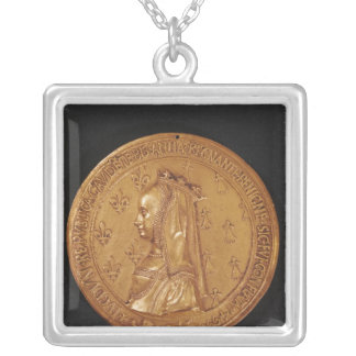 Medal depicting Anne of Brittany Silver Plated Necklace