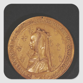 Medal depicting Anne of Brittany Square Sticker