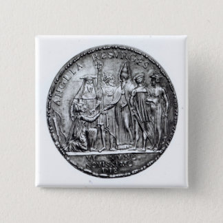 Medal struck by Pope Julius III 15 Cm Square Badge