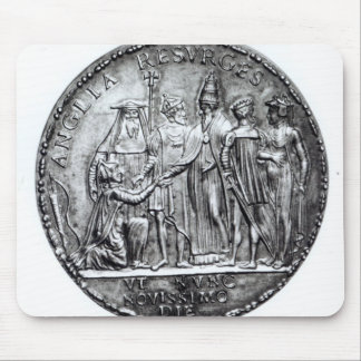Medal struck by Pope Julius III Mouse Pad