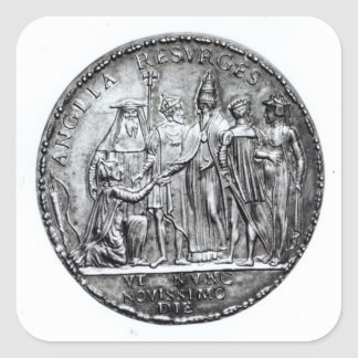 Medal struck by Pope Julius III Square Sticker