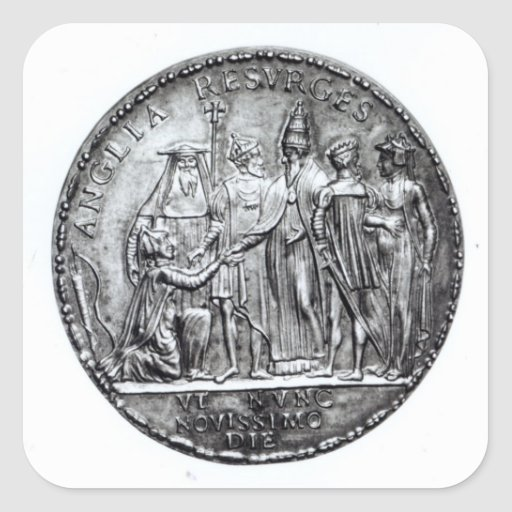 Medal struck by Pope Julius III Stickers