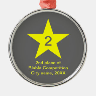 Medal with yellow Star - ornaments
