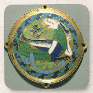 Medallion depicting a dragon, French, from Conques Beverage Coaster