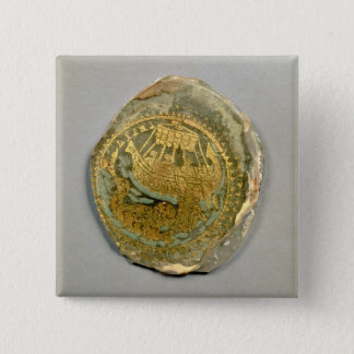 Medallion depicting Jonah and the whale, Roman, 4t 15 Cm Square Badge