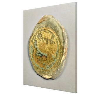 Medallion depicting Jonah and the whale, Roman, 4t Canvas Prints