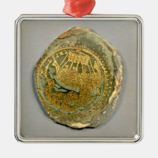 Medallion depicting Jonah and the whale, Roman, 4t Christmas Ornament