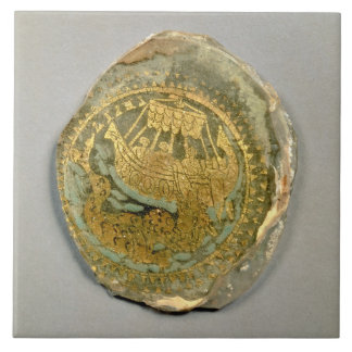 Medallion depicting Jonah and the whale, Roman, 4t Large Square Tile