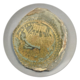 Medallion depicting Jonah and the whale, Roman, 4t Party Plate