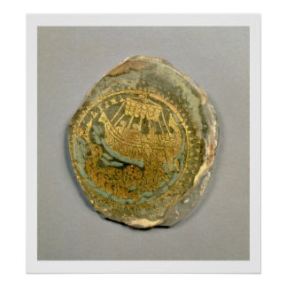 Medallion depicting Jonah and the whale, Roman, 4t Poster