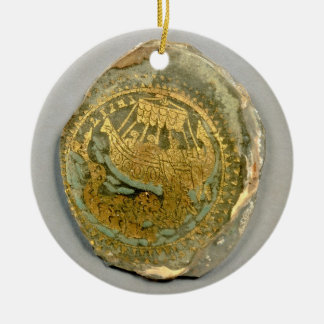 Medallion depicting Jonah and the whale, Roman, 4t Round Ceramic Decoration