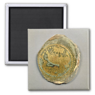 Medallion depicting Jonah and the whale, Roman, 4t Square Magnet