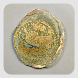 Medallion depicting Jonah and the whale, Roman, 4t Square Sticker