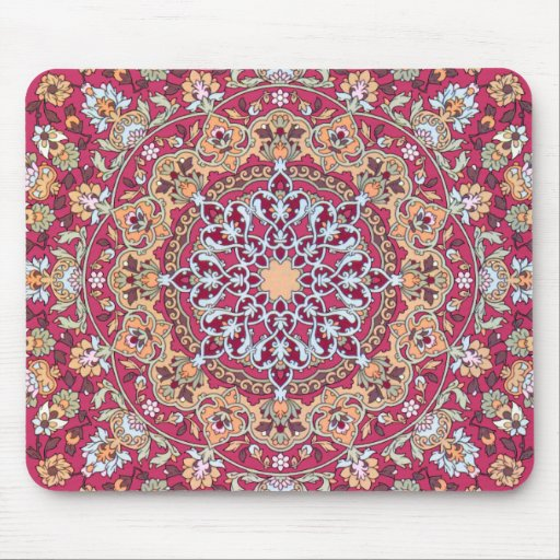 Medallion of flower and sends it Eastern violet ro Mouse Pads