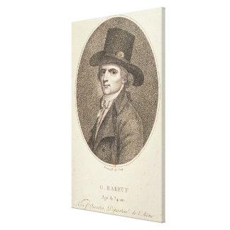 Medallion Portrait of Francois Noel Canvas Print