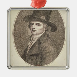 Medallion Portrait of Francois Noel Silver-Colored Square Decoration