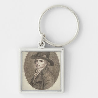 Medallion Portrait of Francois Noel Silver-Colored Square Key Ring