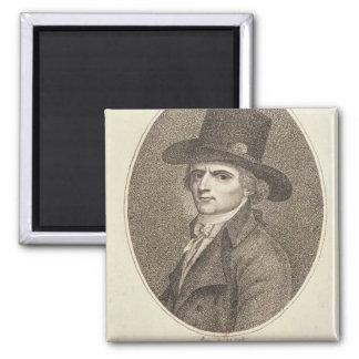 Medallion Portrait of Francois Noel Square Magnet