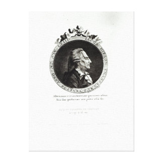 Medallion Portrait of Giacomo Casanova, age 63 Canvas Print