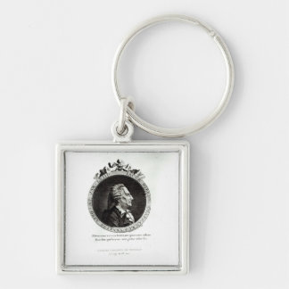 Medallion Portrait of Giacomo Casanova age 63 Key Chain