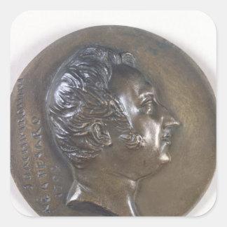 Medallion portrait of Gioacchino Rossini  1829 Square Sticker
