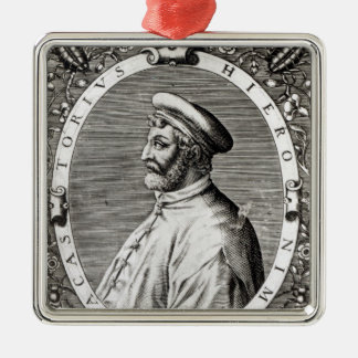 Medallion portrait of Girolamo Fracastoro Christmas Ornament