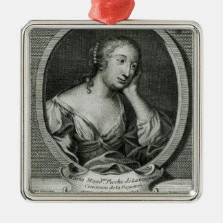 Medallion portrait of Madame de La Fayette Christmas Ornament
