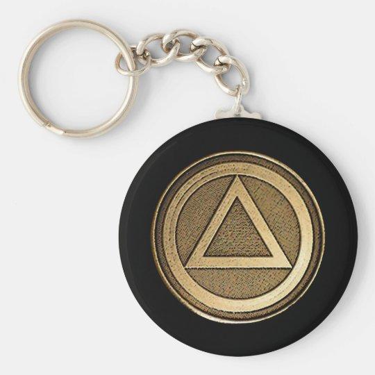 Medallion Recovery Sobriety Sober Keychain