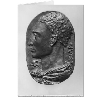 Medallion Self Portrait Card