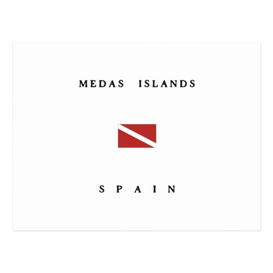 Medas Islands Spain Scuba Dive Flag Postcard