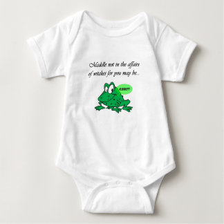 Meddle not in the affairs of witches baby bodysuit
