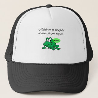 Meddle not in the affairs of witches trucker hat