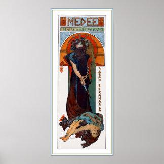 Medee Medea - Mucha - Art Nouveau Theater ad Print