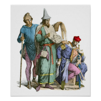 Medeival Jew and Knight - Period Costumes Poster