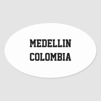 Medellin Colombia oval stickers