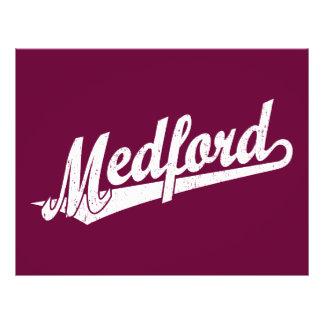 Medford script logo in white distressed full color flyer