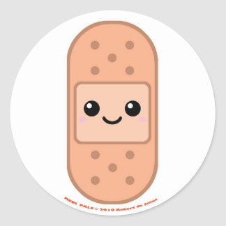 Medi Pals Bandage Classic Round Sticker