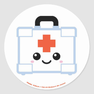 Medi Pals First Aid Kit Classic Round Sticker