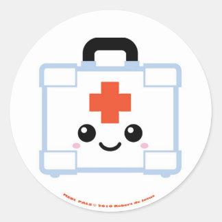 Medi Pals First Aid Kit Round Sticker