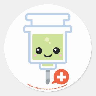 Medi Pals Needle Round Sticker