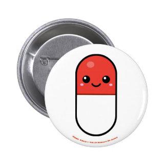 Medi Pals Pill 6 Cm Round Badge