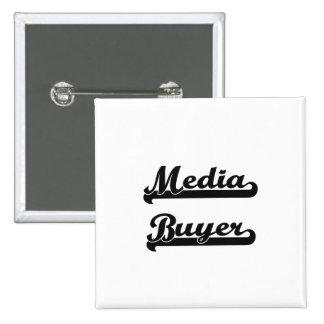 Media Buyer Classic Job Design 15 Cm Square Badge