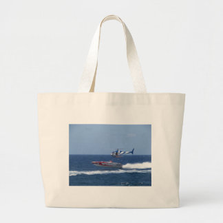 Media Helicopter Large Tote Bag